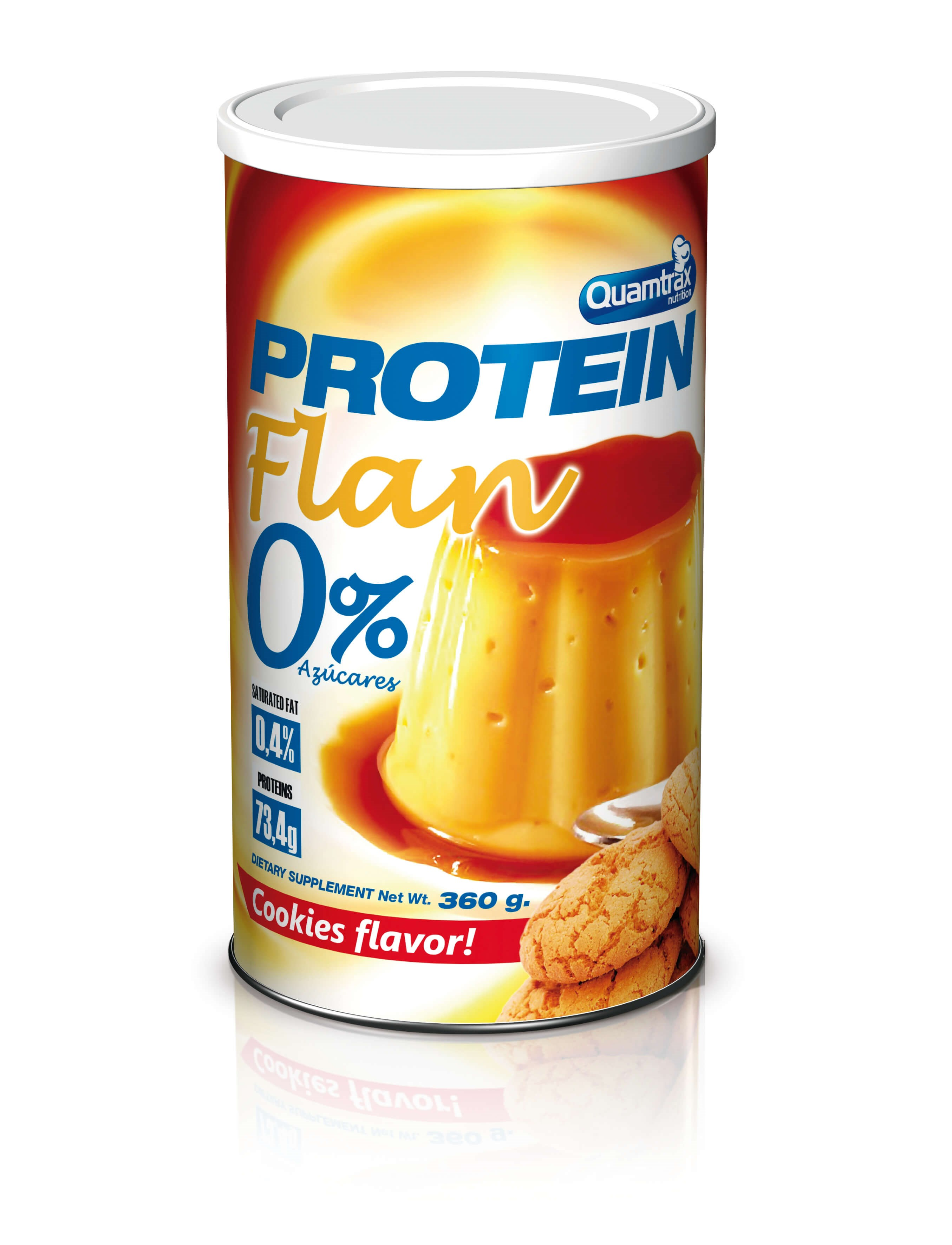 Quamtrax Gourmet Flan protein 360g